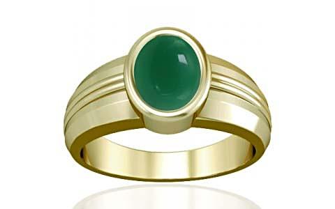 Green Onyx Panchdhatu Ring (A4)