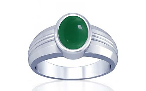 Green Onyx Silver Ring (A4)