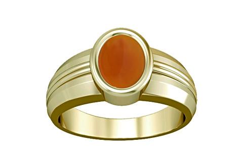 Orange Onyx Panchdhatu Ring (A4)