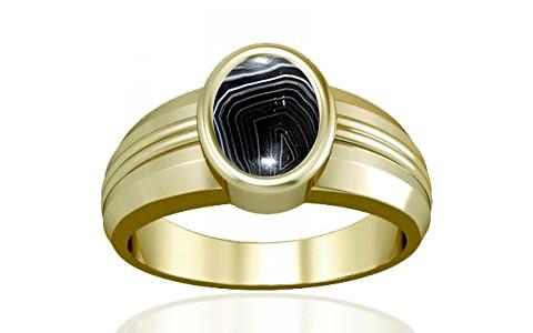 Striped Onyx Panchdhatu Ring (A4)