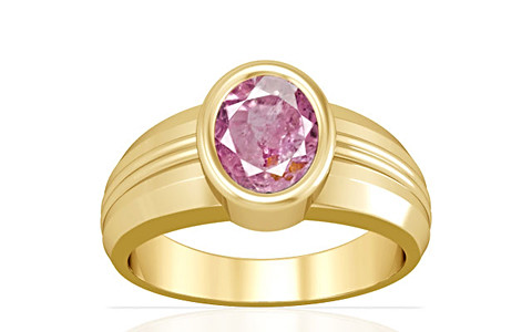 Pink Sapphire Gold Ring (A4)