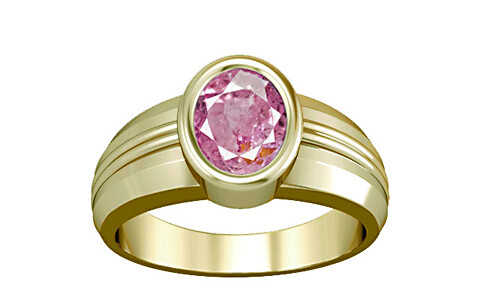Pink Sapphire Panchdhatu Ring (A4)