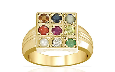 Navratna Gold Ring (A4)