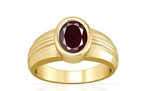 Indian Ruby Gold Ring (A4)