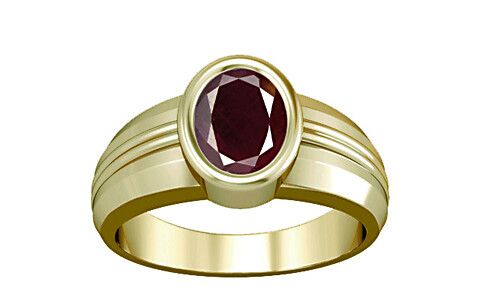 Indian Ruby Panchdhatu Ring (A4)