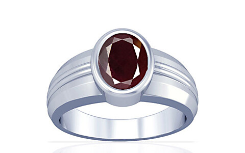 Indian Ruby Sterling Silver Ring (A4)