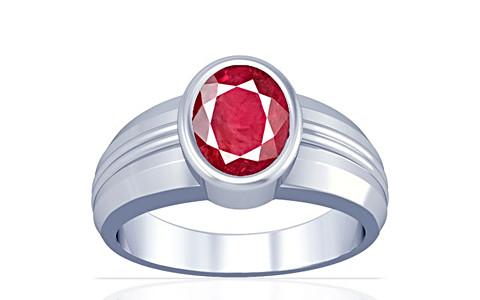Ruby (Old Burma) Silver Ring (A4)