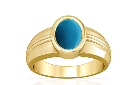 Turquoise Gold Ring (A4)