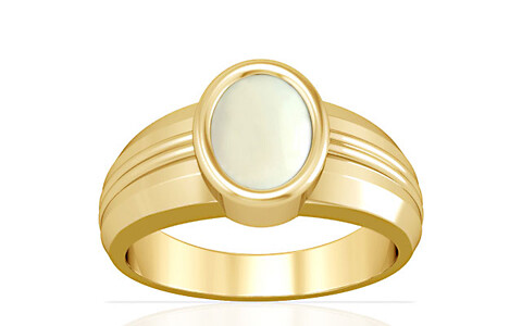 White Coral Gold Ring (A4)