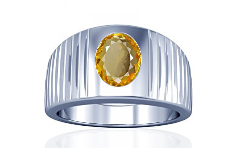 Citrine Silver Ring (A5)