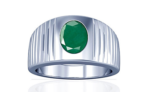 Emerald Silver Ring (A5)