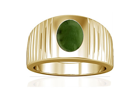 Nephrite Jade Gold Ring (A5)