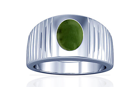 Nephrite Jade Silver Ring (A5)