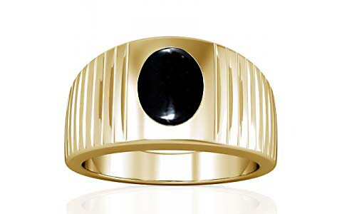 Black Onyx Gold Ring (A5)