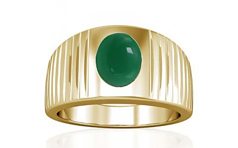 Green Onyx Gold Ring (A5)