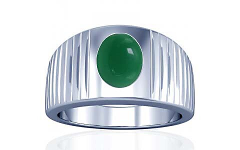 Green Onyx Silver Ring (A5)