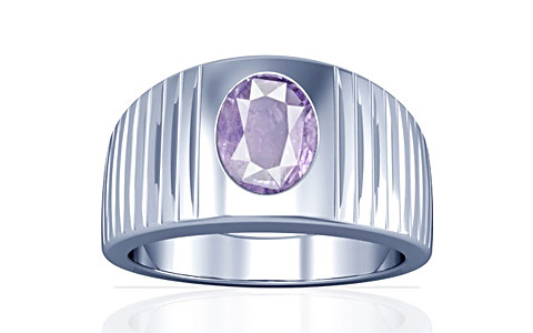 Purple Sapphire Sterling Silver Ring (A5)