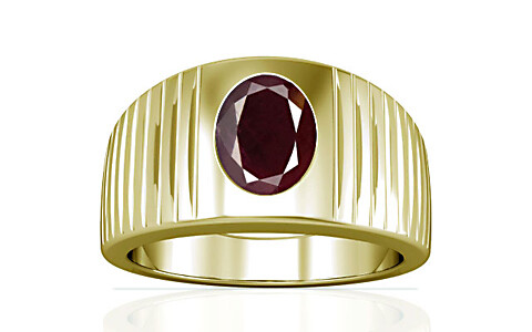 Indian Ruby Panchdhatu Ring (A5)
