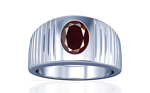Indian Ruby Sterling Silver Ring (A5)