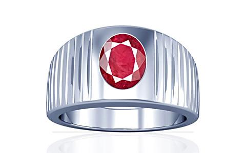 Ruby (Old Burma) Silver Ring (A5)