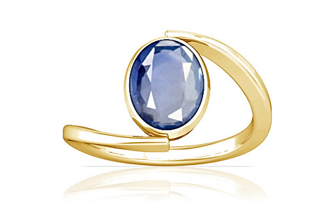 Blue Sapphire Gold Ring (A6)