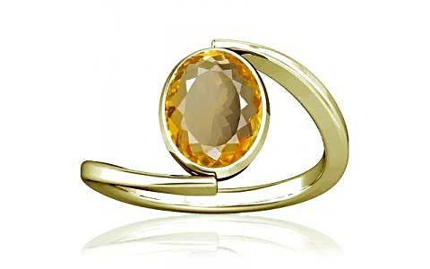 Citrine Panchdhatu Ring (A6)