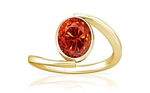Orange Cubic Zirconia Gold Ring (A6)