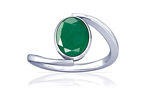 Emerald Silver Ring (A6)