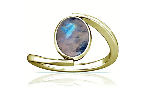 Rainbow Moonstone Panchdhatu Ring (A6)