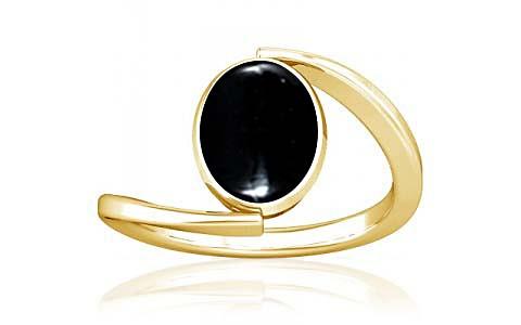 Black Onyx Gold Ring (A6)