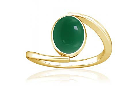 Green Onyx Gold Ring (A6)