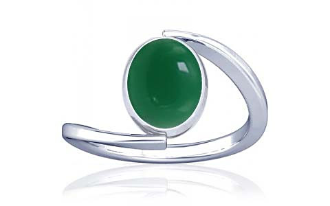 Green Onyx Silver Ring (A6)