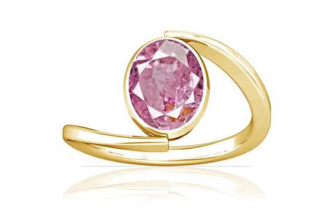 Pink Sapphire Gold Ring (A6)