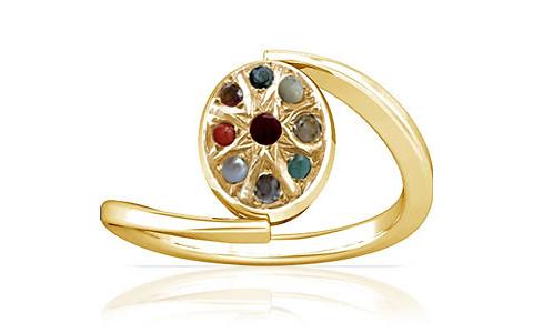 Navratna Gold Ring (A6)
