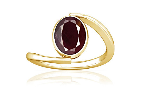 Indian Ruby Gold Ring (A6)