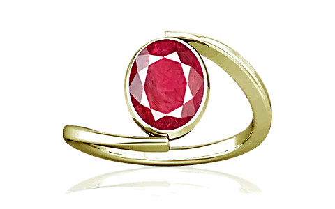 Ruby (Old Burma) Panchdhatu Ring (A6)