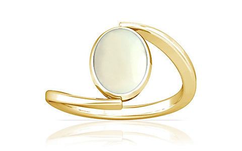 White Coral Gold Ring (A6)