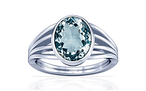 Aquamarine Silver Ring (A7)