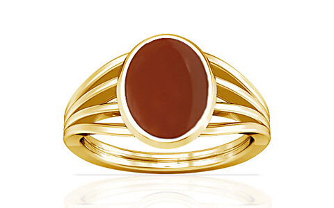 Carnelian Gold Ring (A7)