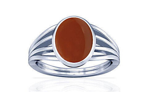 Carnelian Sterling Silver Ring (A7)