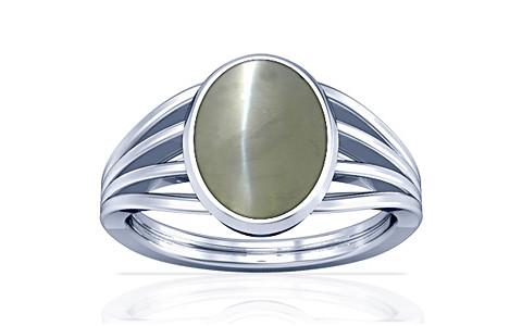 Chrysoberyl Cats Eye Silver Ring (A7)