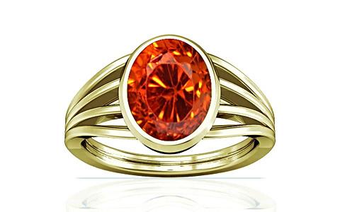 Orange Cubic Zirconia Panchdhatu Ring (A7)