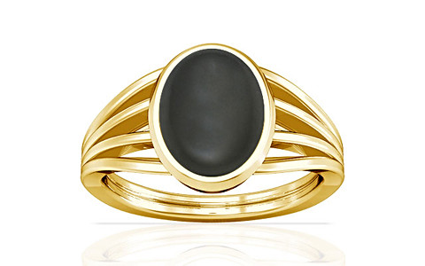 Gray Moonstone Gold Ring (A7)
