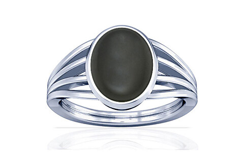 Gray Moonstone Silver Ring (A7)