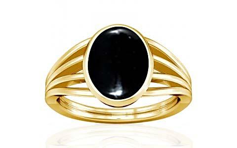 Black Onyx Gold Ring (A7)