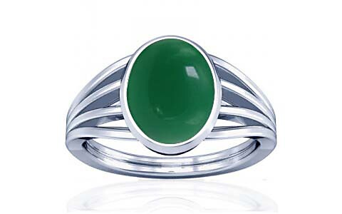 Green Onyx Silver Ring (A7)