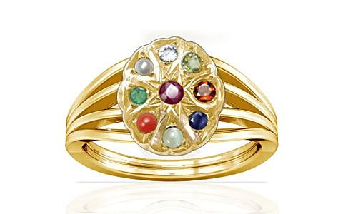 Navratna Gold Ring (A7)