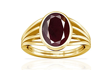 Indian Ruby Gold Ring (A7)