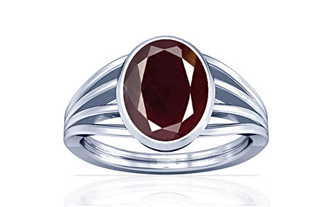 Indian Ruby Sterling Silver Ring (A7)
