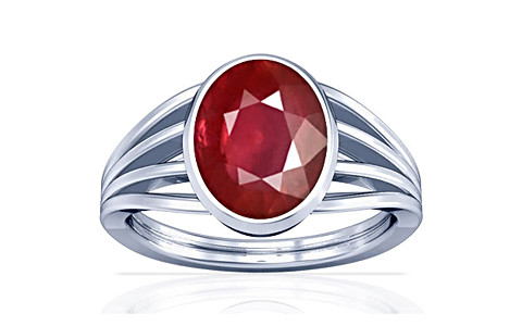 Ruby Silver Ring (A7)
